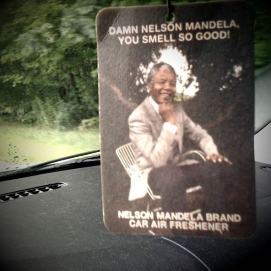 Nelson Mandella car air freshener